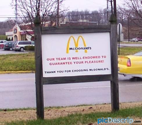 picDescrip.com - Prank - McDonald's. They're well-endowed.