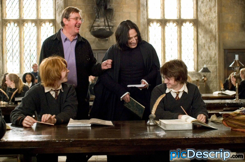 picDescrip.com - Movies - It's strange seeing Snape smile.