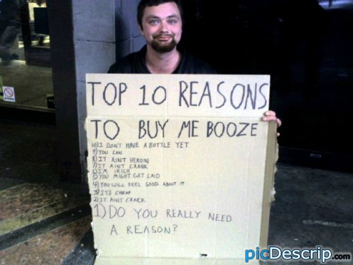 picDescrip.com - Miscellaneous - Awesome beggar.