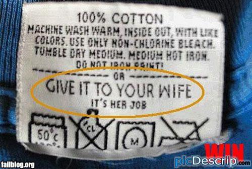 picDescrip.com - Fail - Laundry Bitch!
