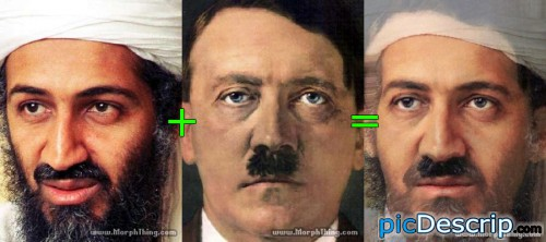 picDescrip.com - Politics - Osama + HitlerHitler died: April 30Osama died: May 1